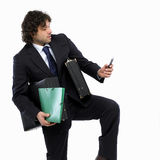 Busy man Royalty Free Stock Photography