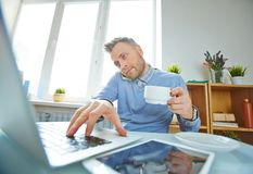 Busy man Royalty Free Stock Images