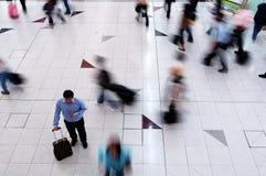 Busy man deciding the way to go Stock Photos