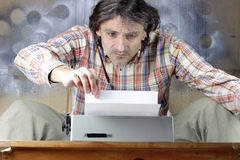 Man typing Stock Image