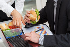 Busy manager in corparation Stock Images
