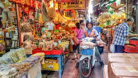 Busy market in Chinatown, Bangkok Stock Image