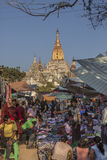 Ananda Temple and Market - Bagan - Myanmar Stock Images