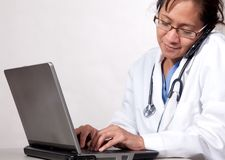 Busy medical secretary Royalty Free Stock Photos