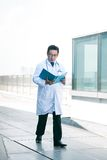 Busy medical worker Stock Photo
