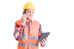 Busy and modern constructor or builder Stock Image