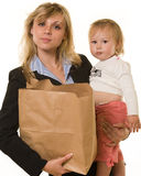 Busy mom royalty free stock image