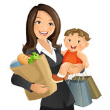 Busy Mom stock image