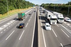 Busy Motorway From Above stock photography