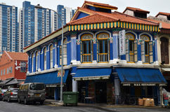 The busy neighborhood of Little India in Singapore Royalty Free Stock Images