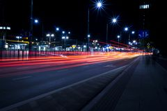 Busy Night Street  Royalty Free Stock Image