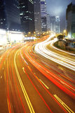 Busy night traffic Royalty Free Stock Image
