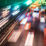 Busy Night Traffic. Motion Blur stock photos