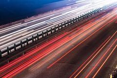 Busy Night Traffic. Motion Blur royalty free stock image