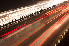 Busy Night Traffic Motion Blur. In china royalty free stock photo