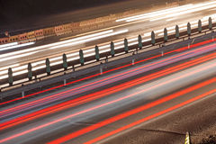 Busy Night Traffic Motion Blur Royalty Free Stock Photo