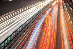 Busy Night Traffic Motion Blur Stock Image