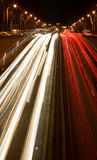 Busy night traffic in Paris Royalty Free Stock Photos
