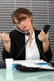 Busy office worker Stock Image