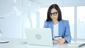 Busy in Online Shopping, Payment by Credit Card. 4k , high quality Stock Image