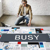 Busy Overload Working Hardworking Concept Royalty Free Stock Image