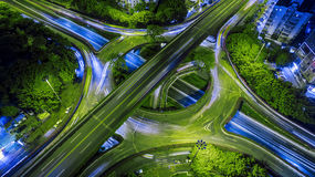 Busy overpass Royalty Free Stock Image