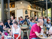 Busy Paris cafe on August day Stock Photo