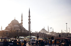 Busy people and city traffic in Istanbul Royalty Free Stock Images