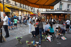 Busy People in Paris France Royalty Free Stock Photos