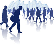 Busy People Walking Through A City Stock Photography