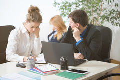 Busy people working in office Royalty Free Stock Photo