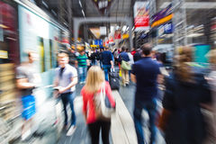 Busy people with zoom effect Stock Photos