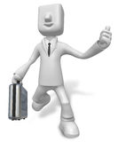A busy person Carrying a Briefcase Royalty Free Stock Photo