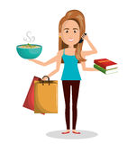 Busy person design Stock Images
