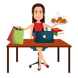 Busy person design Royalty Free Stock Photos