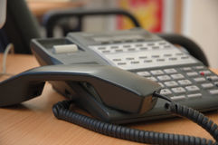Busy phone. Line in an office Stock Images