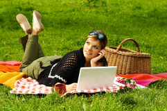Busy Picnic Royalty Free Stock Photos