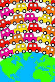 Busy planet. With lots of traffic Royalty Free Stock Photos