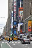 One and only Times Square in New York City. Busy and popular place in NY during peak ours, Times Square, New York City, USA stock photography