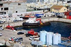 Busy Port in Gibraltar Stock Photos