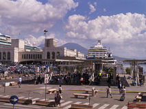 Busy Port in Naples Royalty Free Stock Image