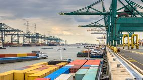 Free Busy Port Of Antwerp Royalty Free Stock Image - 146729426