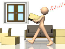 He is busy preparing for the move. Stock Images