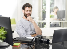 Busy professional man Stock Images