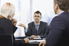 Professional discussion Stock Photos