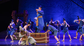 "Busy quays -Dance drama ""The Dream of Maritime Silk Road"" Stock Image"