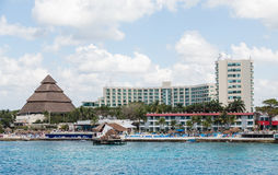 Busy Resorts on Cozumel Coast Royalty Free Stock Photography