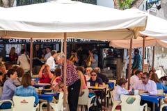 Busy restaurant in Granada Royalty Free Stock Photos