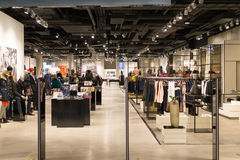 Busy retail shopping mall Stock Images