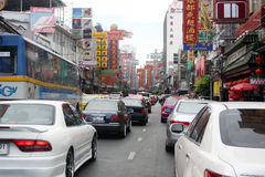A Busy Road in Bangkok, Thailand Stock Images